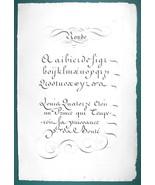 "1826 PENMANSHIP Calligraphy Round - 12"" x 18"" (30 x 46 cm) Superb Print #14 - $30.34"