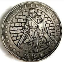 Rare New Hobo Nickel 1879 Morgan Dollar Templar Knight With Sword and Ar... - $11.99