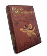 1890s Travels and Surprising Adventures of Baron Munchausen Antique Book - $45.90