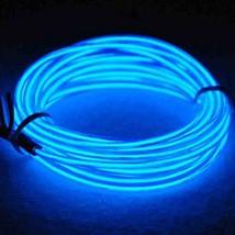 JYtrend 9ft Neon Light El Wire w/Battery Pack - Blue