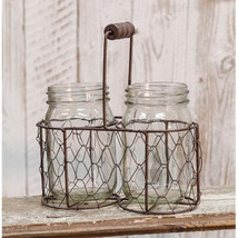 Mason Jars in Chicken Wire Basket - $35.33