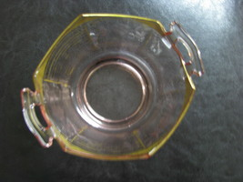 Pink Depression Glass Bowl with Gold Trim - $12.00