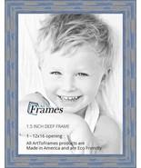 ArtToFrames WOM0066-56673-YBLU-12x16 Barnwood Wood Picture Frame, 12 x 1... - $25.33