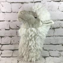 Folkmanis White Alpaca Plush Stage Hand Puppet Fluffy Farm Animal Theate... - $29.69