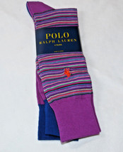 Men's Polo Ralph Lauren 2 pack Pair socks 10-13 dress casual 899670PK Pu... - $23.80