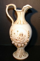 Vintage Lefton Bone China Pitcher Vase KW156 Hand Painted RARE!! - $19.79
