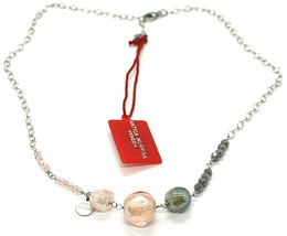"Necklace Antica Murrina Venezia, COA59A33, Nugget Pink Gray, 45 cm, 17.7 "" - $40.62"