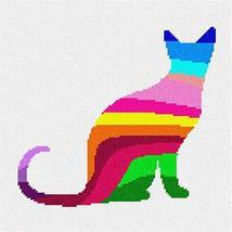pepita Cat 2 Palette Silhouette Needlepoint Kit - $125.00