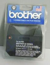 Brother 4 Pack Correctable 1030 Film Ribbons Black AX Series Typewriters NIP - $14.99