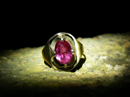 Haunted QUEEN MA'AT EGYPTIAN GODDESS HEAVEN LADY Ruby Gold Sterling Ring... - $434.00