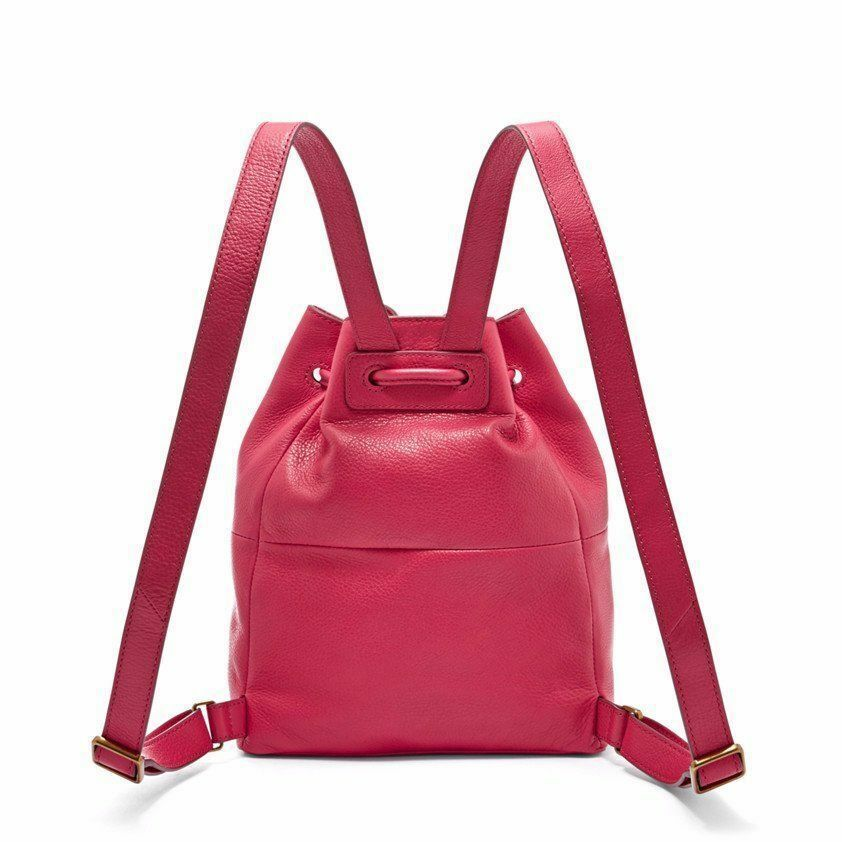 New Fossil Vickery Drawstring Leather Women Mini Backpack Variety Colors image 8