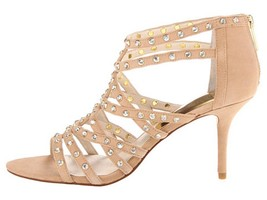 Women's Shoes Michael Kors MADDIE JEWELED STRAP T-Strap Sandal Stones Su... - $89.10