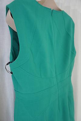 Anne Klein Pequeña Vestido 8P Kelly Verde con Textura A-Line sin Mangas Trabajo image 10