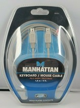 Manhattan Keyboard / Mouse Cable PS/2 Male / PS/2 Male 1.8 M / 6 Ft - $13.49