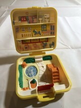 1989 Vintage Polly Pocket Square Compact Midges Play School. Compact Only. - $10.69