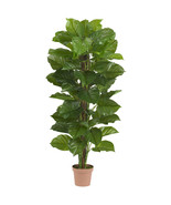 "63"" Large Leaf Philodendron Silk Plant (Real Touch)by Nearly Natural #6594 - $194.08 CAD"