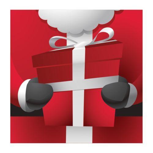 Santa Scenes Gift Present 16 Ct Luncheon Napkins Christmas Party