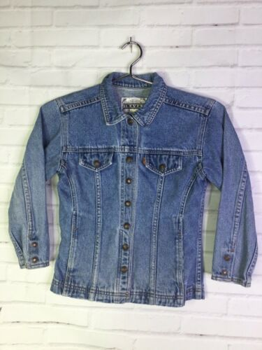 Primary image for VTG Levis Orange Tab Boys Girls Kids Size 6X Snap Button Blue Denim Jean Jacket