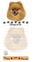 POMERANIAN DOG DIECUT LIST PAD NOTES NOTEPAD Magnetic Magnet Refrigerator - $7.99