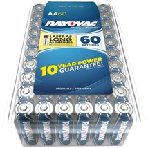RAYOVAC 815-60PPJ Alkaline Batteries Reclosable Pro Pack (AA, 60 pk) - $49.17
