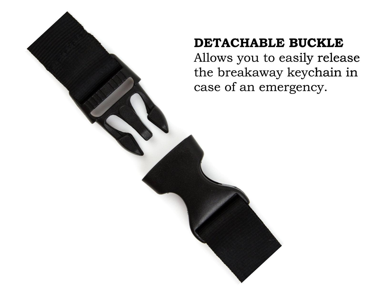 Hufflepuff Badger Lanyard Keychain and ID Holder with Detachable, Breakaway Buck