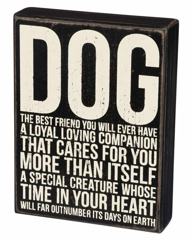 "Primary image for Dog Best Friend You Will Ever Have Box Sign Primitives Kathy 6"" x 8"" Wood"