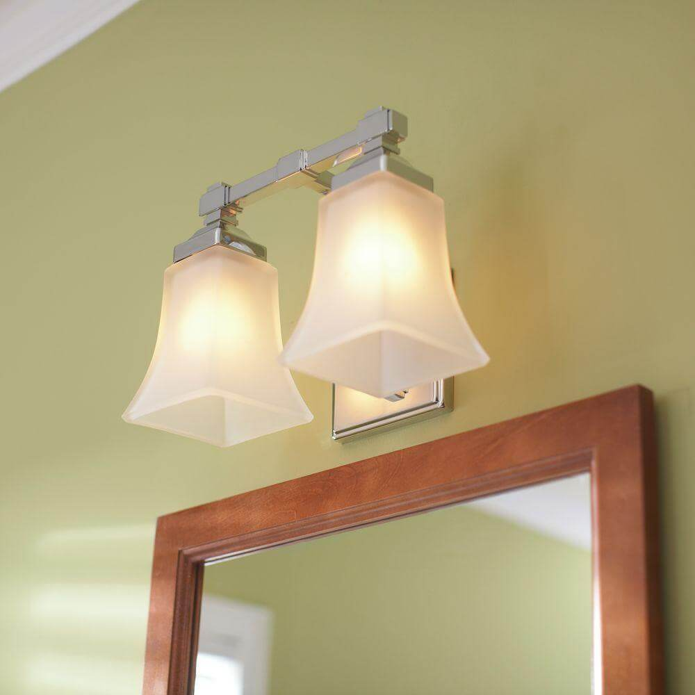 Hampton Bay 2-Light Chrome Vanity Light Fixture