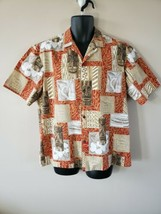 Royal Creations Hawaii Size L Short Sleeve Button Front Aloha Camp Shirt... - $17.82