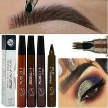 Microblading Tattoo Eyebrow Pencil Waterproof Fork Tip Eye Brow Pen Enha... - $11.27