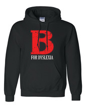 Funny Hoodie B for Dyslexia Men Gift Dyslexic Humor Cool Black Humor Fcu... - $36.62+