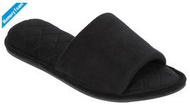 Cold Weather Slippers Women Posh Black Plush Memory Foam Size XL11-12 IN/OUTDOOR - $29.99