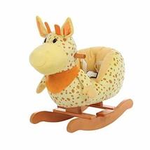 Labebe Child Rocking Horse Plush, Fawn Rocking Horse Stuffed, Yellow Gir... - $89.98