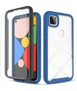 Google Pixel 4a 5G Case with Tempered Glass Screen Protector Rugged Cove... - $14.84