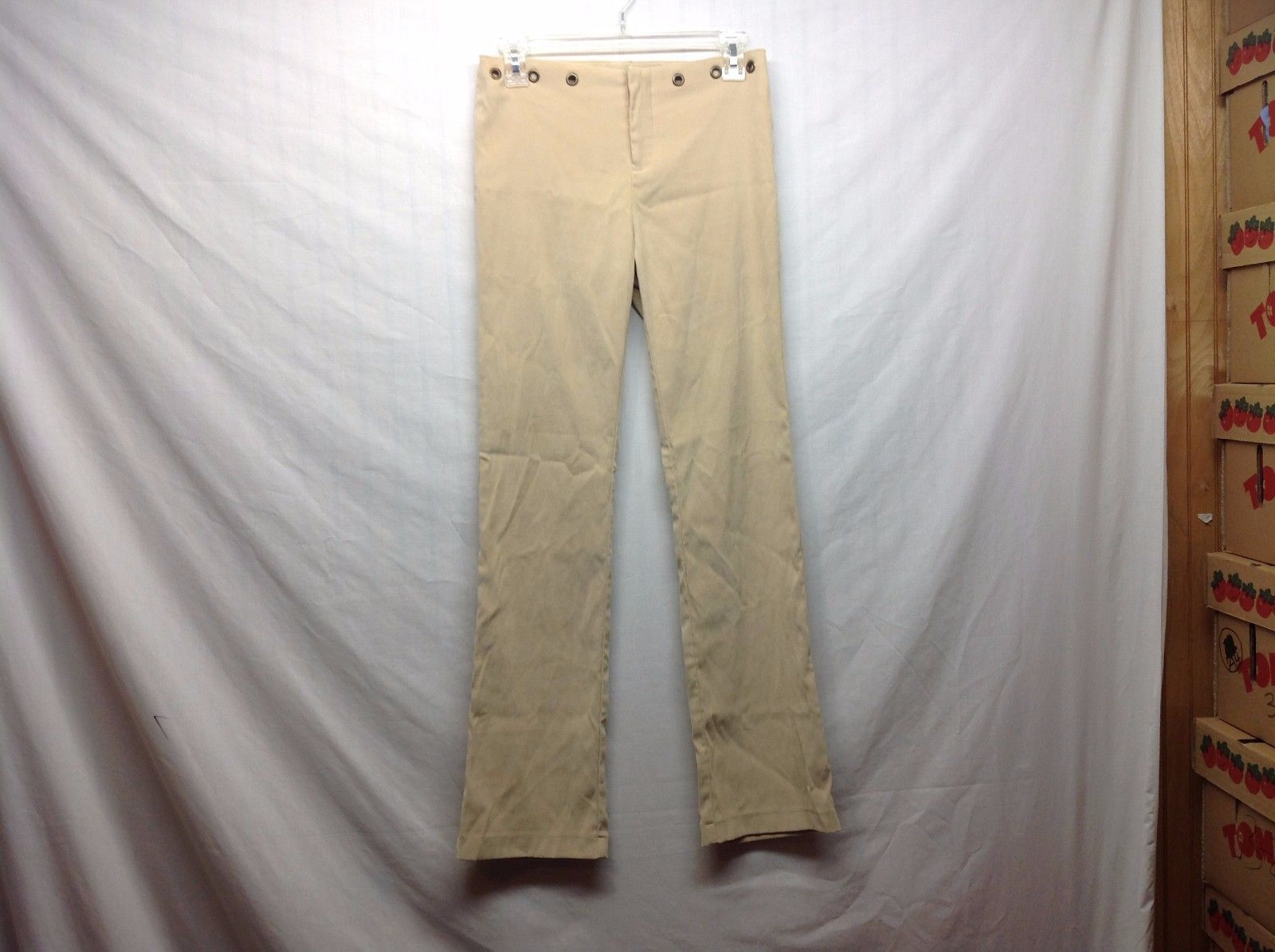 Childrens Low Rise Beige Spandex Pants Junior Sz 5