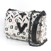 LOUIS VUITTON LV Twist MM Chain Shoulder Bag Purse Cowhide leather 2015 L/d Rare - $4,124.50
