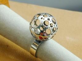 RARE Liisa Vitali For Westerback Finland Sterling Carnelian Ring Moderni... - $425.00