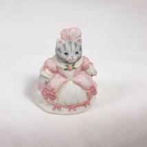 Kitty Cucumber Shackman Miniature Cat In Pink Dress Figurine - $17.00