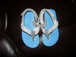 Janie & Jack Gray/Blue Strap Sandals Size 8 Toddler Boy's EUC - $18.40