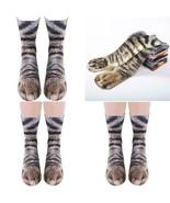 Animal Paws Socks,Novelty Animal Socks Crazy 3D Cat Dog Tiger Paw Socks ... - $7.23