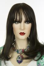 Darkest Brown Brunette Medium Premium Remy Human Hair Monofilament Strai... - $288.30