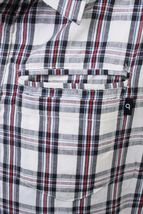 Orisue Charleston Cream Long Sleeve Woven Cotton Button Up Down Plaid Shirt NWT image 3