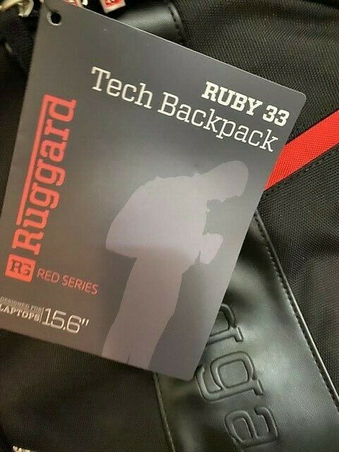 Ruggard Red Series Ruby 33 Tech Backpack- Brand New With Tags