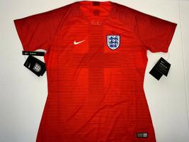 $90 NWT WOMEN MEDIUM Nike VAPOR England Away Soccer Jersey Red FUTBOL FO... - $39.59