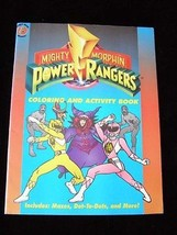 Mighty Morphin Power Rangers Coloring & Activity Book New slight storage... - $23.99