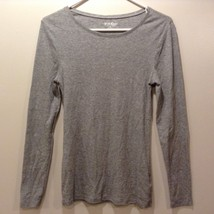 Perfect Grey Long Sleeve Pullover Shirt Sz M