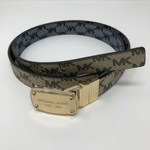 MICHAEL KORS Womens Brown Gray Reversible Signature Belt MK 552805C Sz L... - $38.69