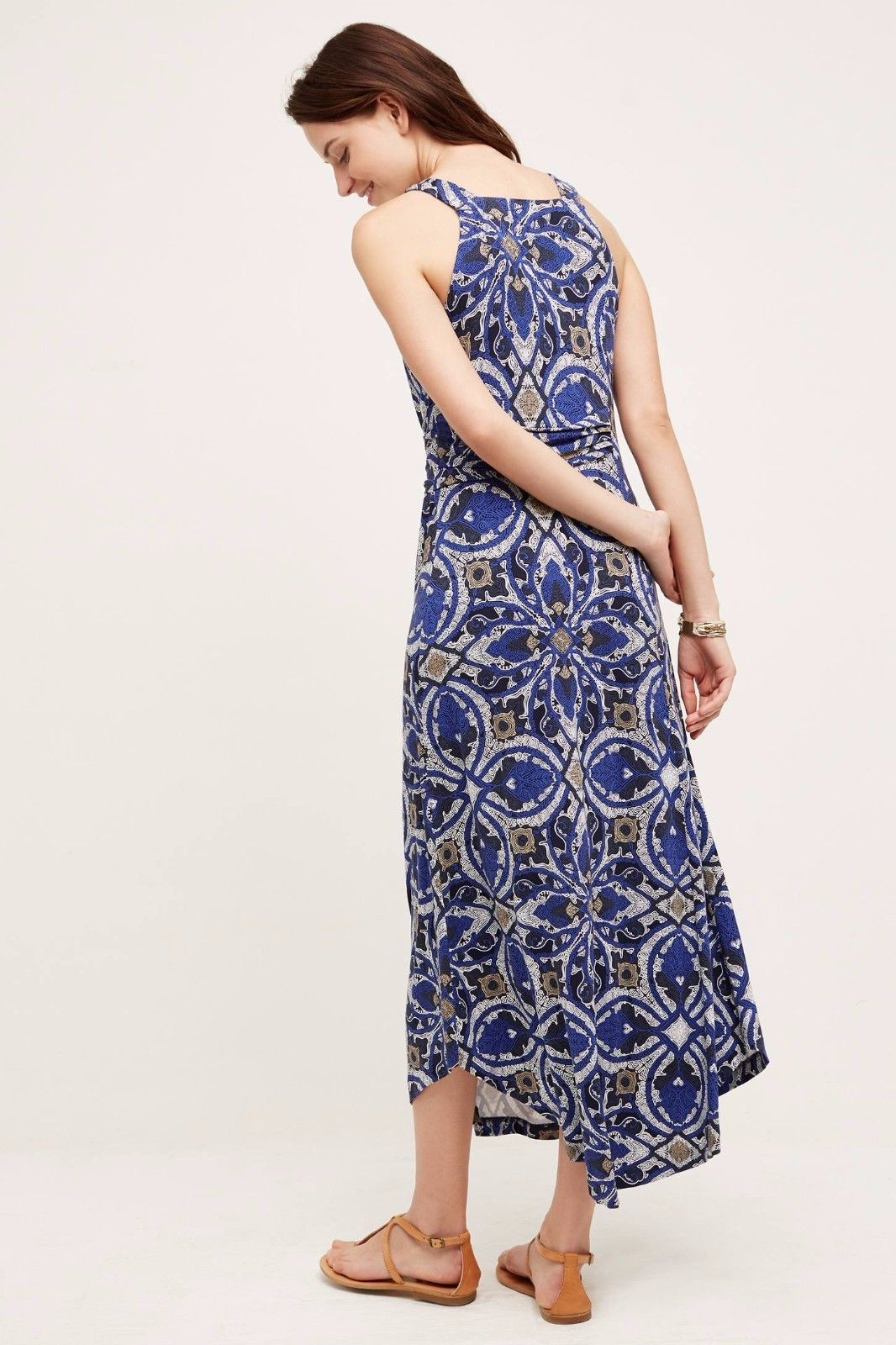 NWT ANTHROPOLOGIE AURETTA PRINTED SLIM MAXI DRESS by MAEVE M