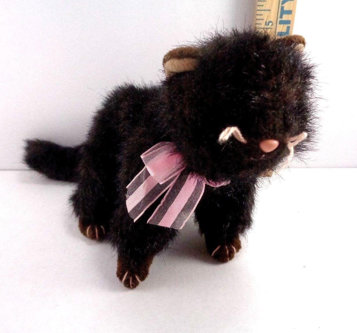Halloween Ty Black Cat Heiress Pink Bow Plush Stuffed Animal Toy Doll