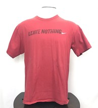 """Nike L Large Regular Fit """"leave Nothing"""" Spellout Red  Graphic Tshirt Re... - $13.86"""
