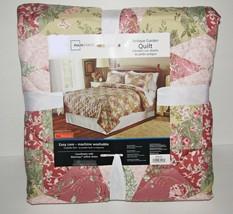 Antique Garden Quilt Full Queen Floral Patchwork NEW - $21.98